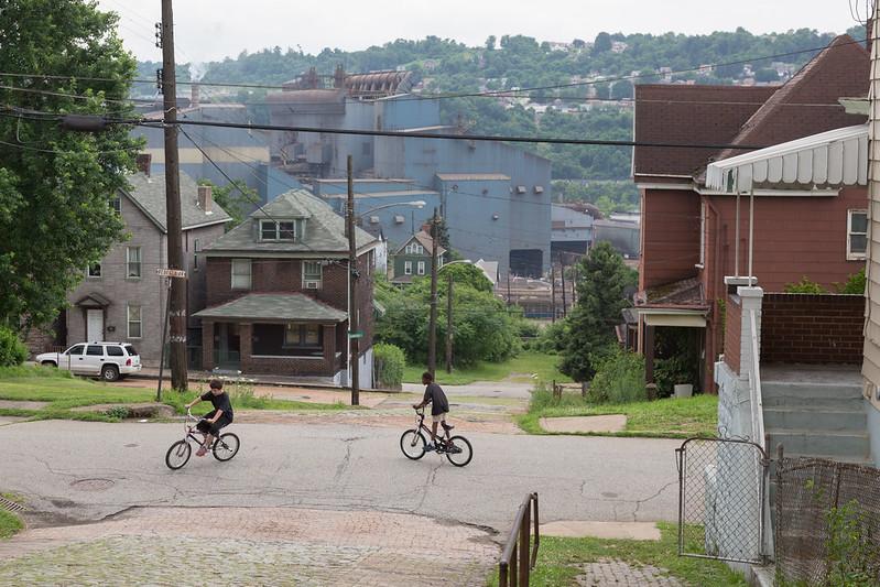 Riding Bikes in Braddock