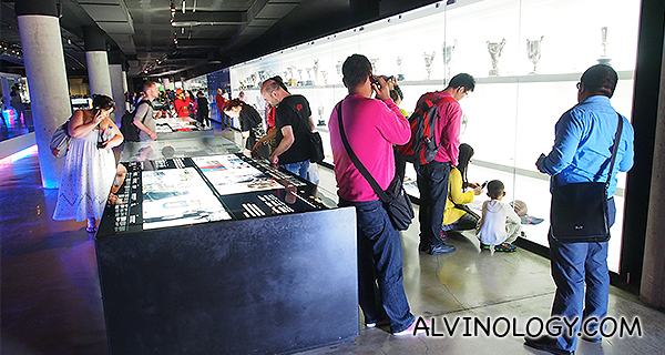 Inside the exhibtion hall