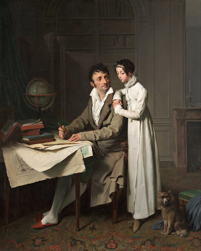 Louis-Léopold Boilly - The Geography Lesson (1812 Portrait of Monsieur Gaudry and His Daughter)