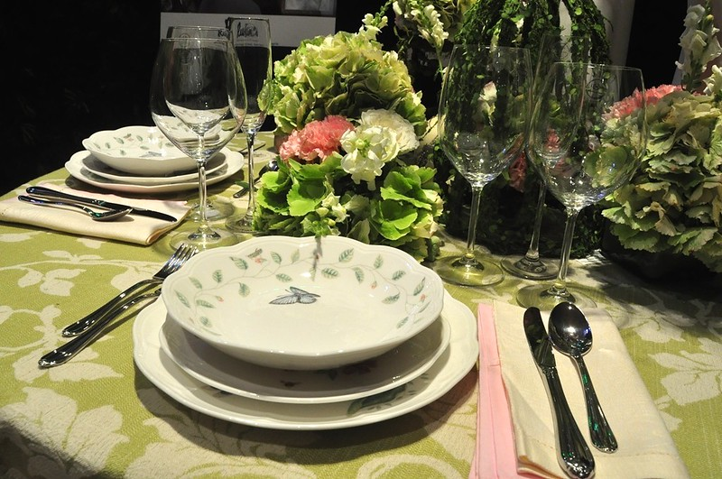 The Proposal Table Set-up, featuring the Lenox Butterfly Meadow dinnerware