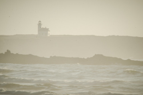 Cape Arago Lighthouse from Bastendorf Beach