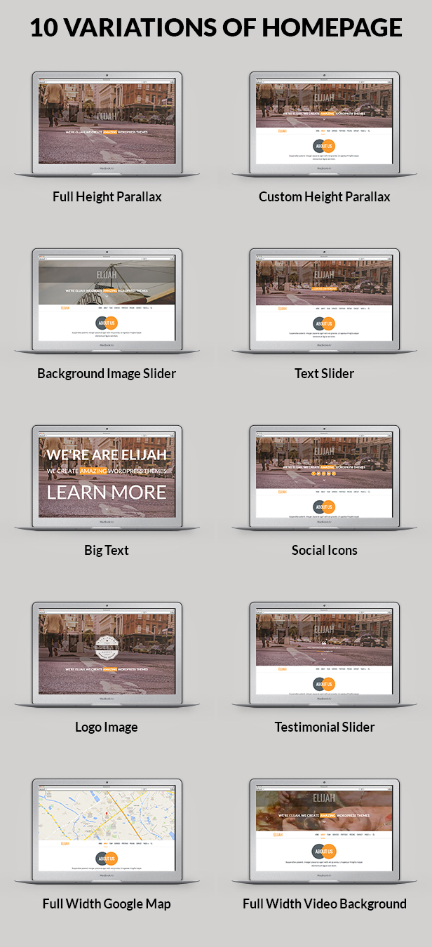 Elijah - Multipurpose Onepage HTML Template