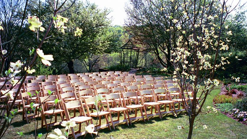 Natural Garden Padded Folding Chairs