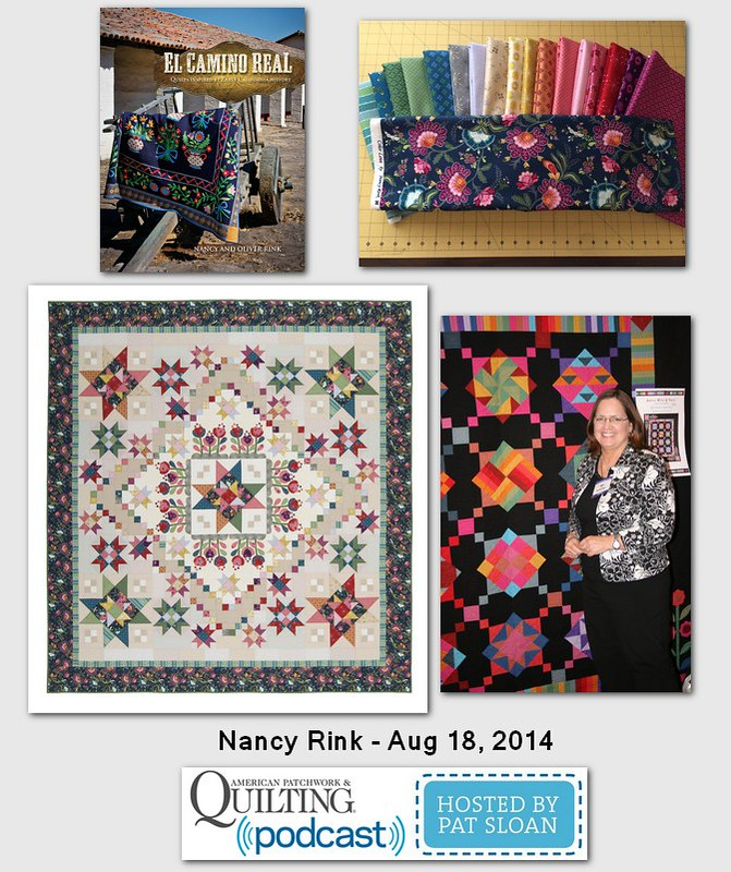 Pat Sloan American Patchwork and Quilting radio Nancy Rink July 204 guest