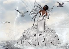 Saschas Designs - Hunger Silver Gown! ... by NIANI