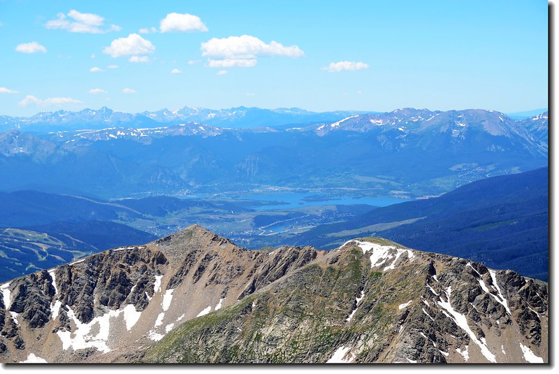 View to West from Grays peak,  Dillon Reservoir can be seen in the distance 2
