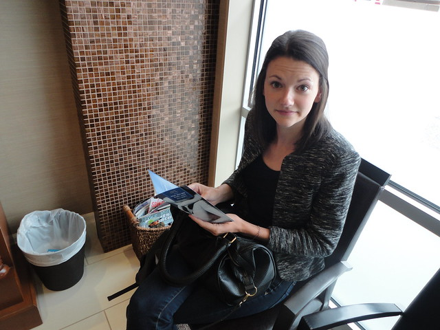 Katie Lister, Oakville dentist, waiting room