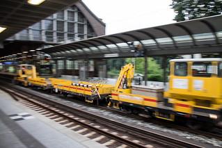Arbeitszug im Bahnhof Dammtor