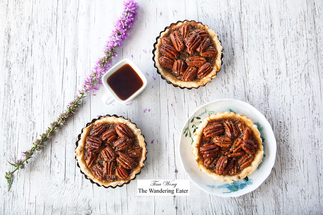 Homemade maple pecan thyme cayenne pie