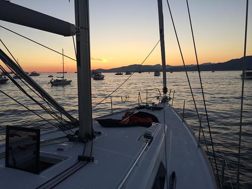 Sunset over English Bay