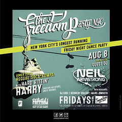 8/8 - DJ Neil Armstrong @ the Freedom Party - Santos Party House