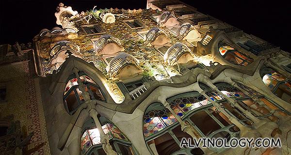 Gaudi's Casa Batllo, just a short walk from the hotel