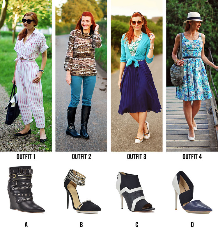Match outfits to the L.A.M.B. heels