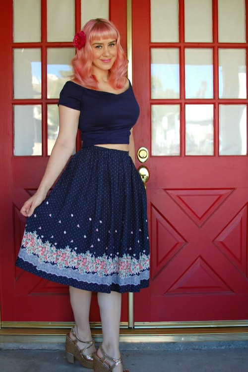 Sidecca Floral Skirt 007