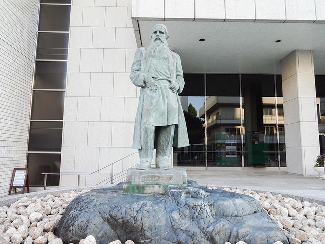 Photo:Showa Women's University: Statue of Leo Tolstoy By Dick Thomas Johnson