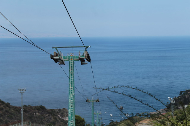 Taormina Mazzaro cableway from above