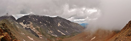 Panorama of Gladstone Peak, Mt Wilson, and El Diente
