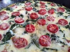 vegetable, frittata, pizza, baked goods, produce, food, dish, cuisine,