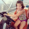 Tay got to drive the boat! #onthepontoon