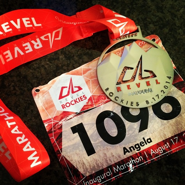Today's @runrevel #rockies medal! #bling #blingwhore #reacemedals #runchat #running #raceday #marathonmaniac