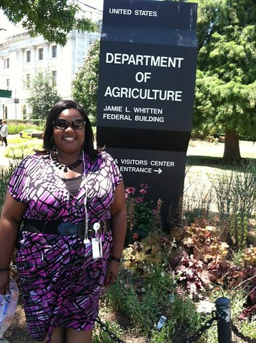 In addition to working with numbers and statistics during the day, USDA's statistician Lisa Jackson also spends her evening with numbers, teaching math at Anne Arundel Community College in Arnold, Maryland.
