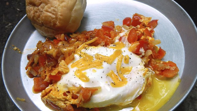 Spicy Fried Eggs in the woods 9