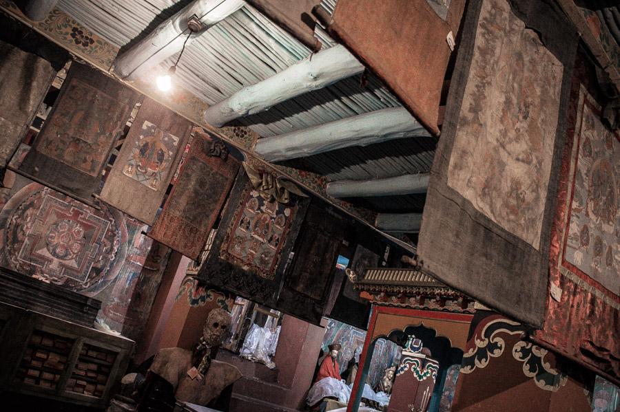 Помещение Махакалы. Стакна Гомпа (монастырь Стакна) © Kartzon Dream - авторские путешествия, авторские туры в Ладакх, тревел фото, тревел видео, фототуры