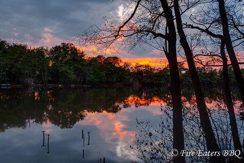 Sonnenuntergang am Kamernschen See