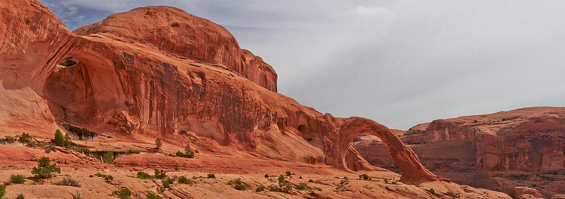 Corona Arch and Bowtie Arch Panorama - Moab