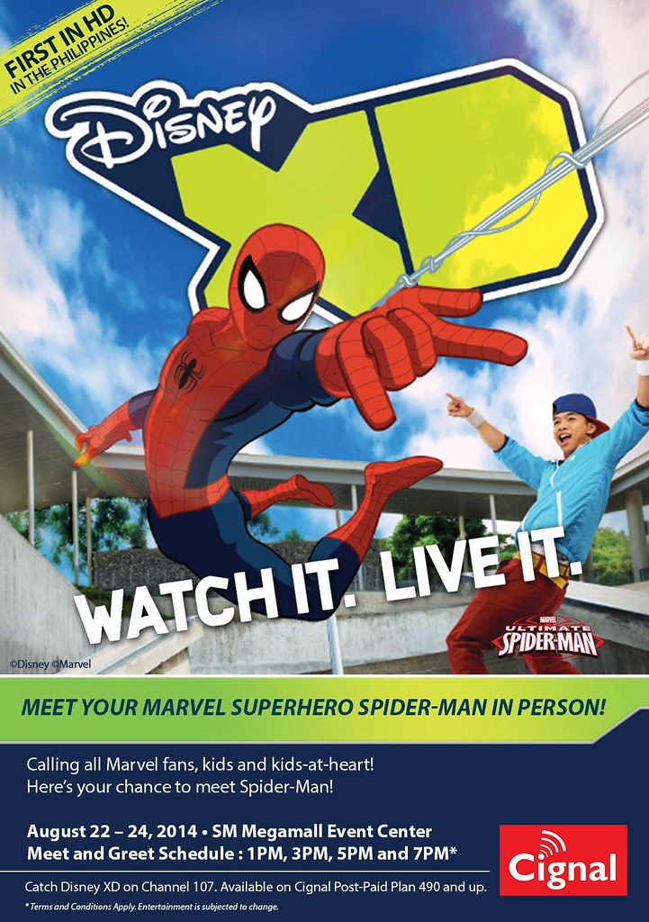 Cignal TV & Disney XD brings Spiderman for special meet and greet