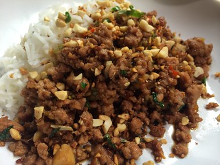 Thai Basil Fried Pork : Close Up