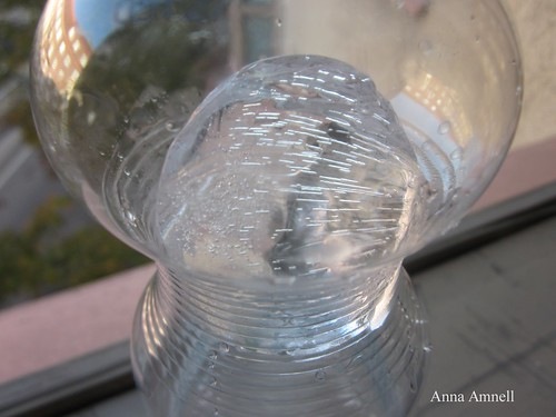 Ice in a water bottle