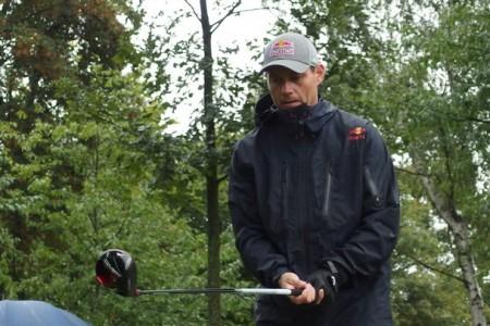 Tomáš Kraus při prvním ročníku BikeGolf Championships na 4. místě