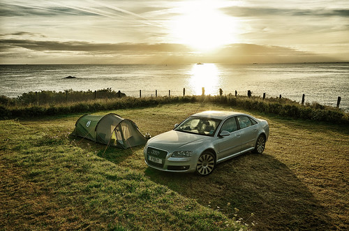 ocean camping sea sky france sunrise nikon brittany tent audi a8 sigma1020mm saintquayportrieux d7000