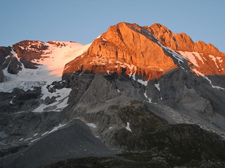Gran Casse al tramonto, dal refuge Col de Vanoise