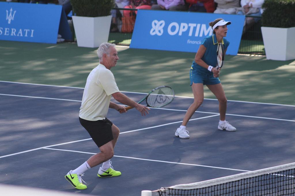 John McEnroe and Monica Seles