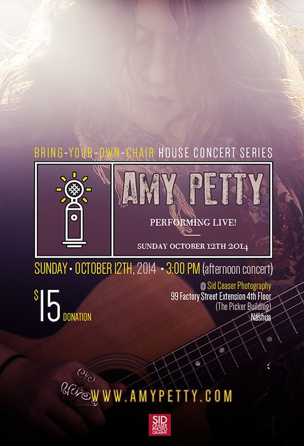 Amy Petty • Studio/House Concert • Sunday Oct 12, 2014 @ 3pm