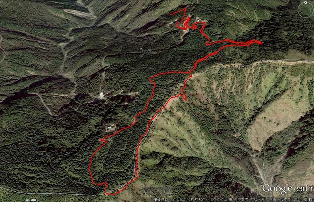2014/08/20 登山路線圖