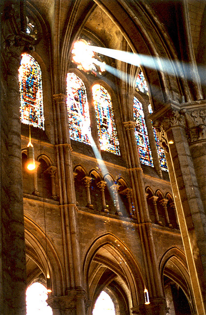God Beams inside Chartre Cathedral