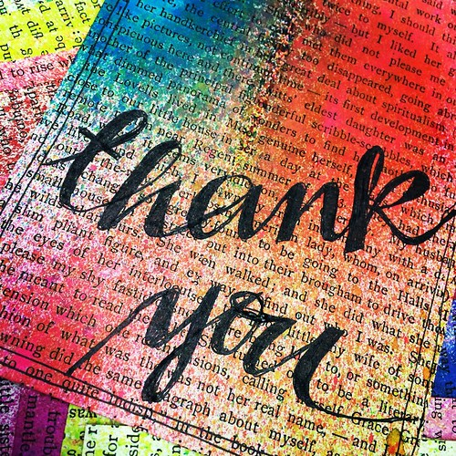 Work in progress:  thank you postcard for #thethankyoupostcardproject. A simple thank you is enough.  #postcard #handwritten #pen #cursive #sprayink #vintagebookpage #handmade #pspercrafts #thankyou #thanks #sayit #kindness #payitforward