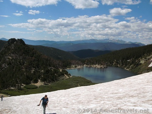 Climbing St. Mary's Glacier, Colorado - another highlight discovered in the book.