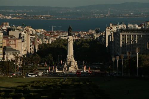 Parque Edoardo VII: la vista su Lisbona