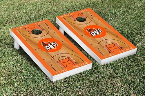 Bowling Green Falcons Cornhole Game Set Basketball Court Version