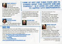 'Leith Says Aye!' flyer, August 2014