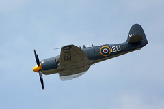 supermarine spitfire(0.0), north american p-51 mustang(0.0), north american t-6 texan(0.0), vought f4u corsair(0.0), grumman f8f bearcat(0.0), aviation(1.0), airplane(1.0), propeller driven aircraft(1.0), vehicle(1.0), air racing(1.0), fighter aircraft(1.0), flight(1.0), air force(1.0), air show(1.0),