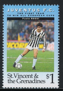 juventus the first team to win all europe cups stamp 3 - st. vincent & the grenadines