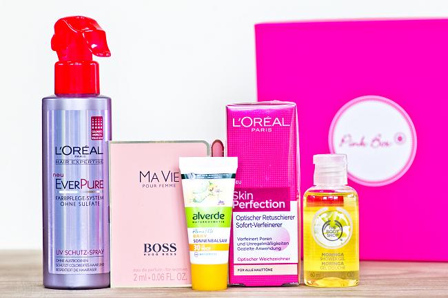 Pink Box August 2014, Inhalt Pink Box