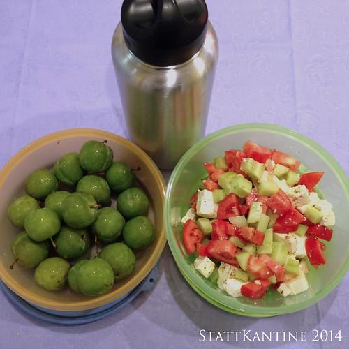 StattKantine 15.09.14 - Griechischer Salat, Reneclauden, Schorle