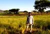 An Ethiopian farmer showing his crops