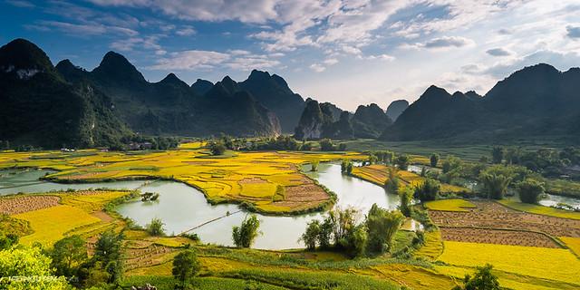 landscape view at Trung Khanh, Cao Bang